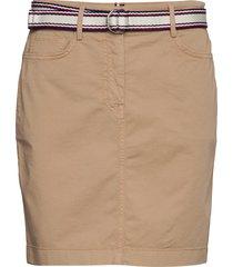 gmd cotton tencel slim skirt kort kjol beige tommy hilfiger