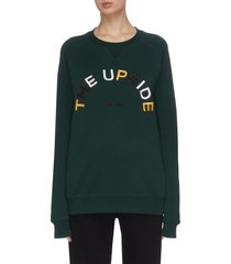 'horseshoe sid' colourblock logo raglan sleeve sweatshirt