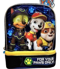paw patrol chase & marshall dual-chamber lead-safe insulated lunch tote box  $22