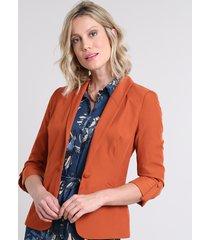 blazer feminino acinturado com martingale cobre