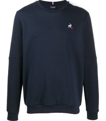 le coq sportif embroidered sweatshirt - blue