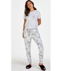 hunkemöller pyjamasbyxor i jersey grå
