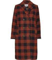 byariana coat - wollen jas lange jas rood b.young