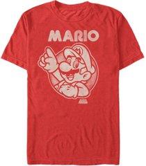 nintendo men's super mario pointing short sleeve t-shirt