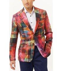 tallia men's floral slim fit blazer