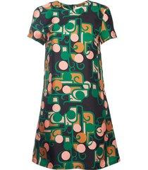 deco in silk twill mini swing dress