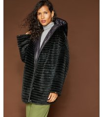 the fur vault reversible mink & rabbit fur coat