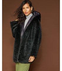 the fur vault reversible mink & rabbit fur coat