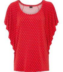 maglia fantasia con maniche a pipistrello (rosso) - bodyflirt