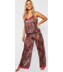 plus luipaardprint gemma collins pyjama, bruin