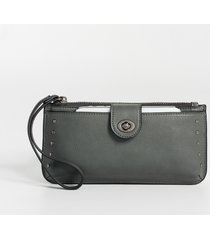 maurices womens solid studded wristlet gray
