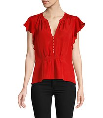 crisbell button-front blouse