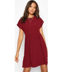 tall soft rib smock dress, berry