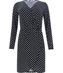 vestido estampado en pepas color negro, talla 10