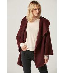 wełniana kurtka oversize w kolorze bordowym