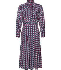 madie printed dress knälång klänning blå morris lady