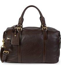 mathews leather duffle bag