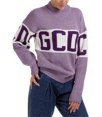 maglione maglia donna girocollo logo band