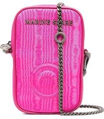 marine serre logo plaque mini purse - pink