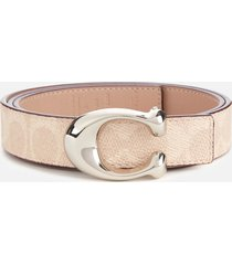 coach women's 25mm c reversible signature belt - sand taupe - l