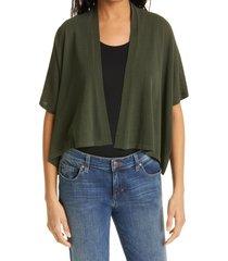 women's eileen fisher boxy short sleeve crop cardigan, size x-small - green