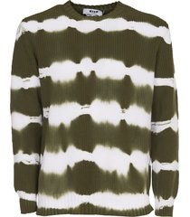 msgm tie-dye cotton sweater