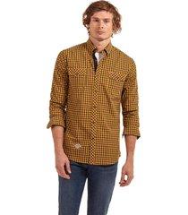 camisa manga larga checkered morgan amarillo ferouch