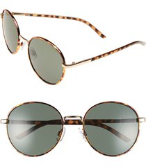 bp. 55mm round sunglasses in brown tort at nordstrom