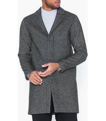 selected homme slhbrove wool coat b noos jackor mörk grå