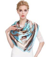lyza donne stampa quadrata sciarpe moda anti-uv foulard multifunzione capelli cinture soft asciugamano