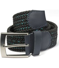 cinturón trenzado negro vena azul doshka
