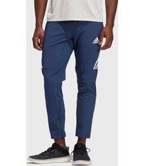 pantalón adidas performance aero 3s pnt azul - calce slim fit