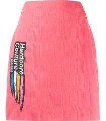 marine serre hardcore couture skirt - pink