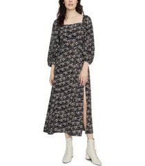 sanctuary lindsey square-neck midi dress