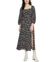 sanctuary lindsey square-neck midi dress