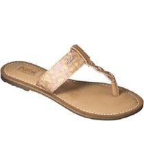 womens mad love lori sandal thong flip flop beige floral