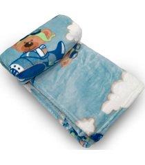 cobertor bebe prime flannel hazime dumont azul - transparente - dafiti