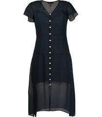 rag & bone mccormick button-down chiffon dress - blue