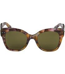bottega veneta women's 50mm square core sunglasses - havana