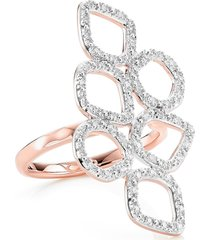 monica vinader riva mini cluster diamond ring, size 7.5 in rose gold/diamond at nordstrom