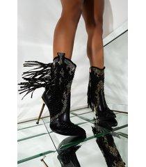 akira azalea wang one more love long stiletto heel bootie