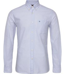 aldwyn mixed panel b.d. shirt overhemd casual blauw morris