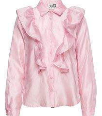 cholet shirt långärmad skjorta rosa just female