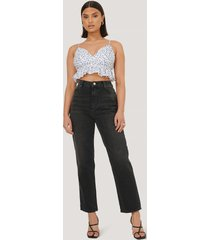 trendyol jeans med hög midja - black