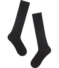 calzedonia - tall wool and cotton socks, 44-45, black, men