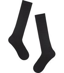 calzedonia - long wool and cotton socks, 44-45, black, men