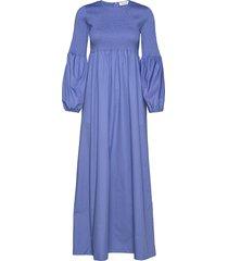 rodebjer sandy crisp maxi dress galajurk blauw rodebjer