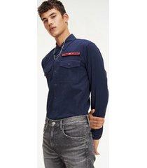 camisa manga larga tjm velcro overshirt tommy jeans