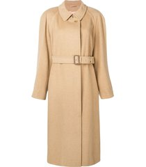 a.n.g.e.l.o. vintage cult belted midi coat - neutrals