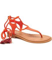 sandalia gannon naranja nine west